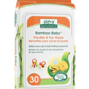 Aleva Naturals Bamboo Baby pacifier and toy wipes 30 count