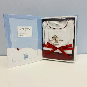 b amici Baby's First Christmas clothing set