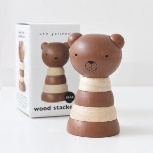 Wee Gallery wood stacker bear