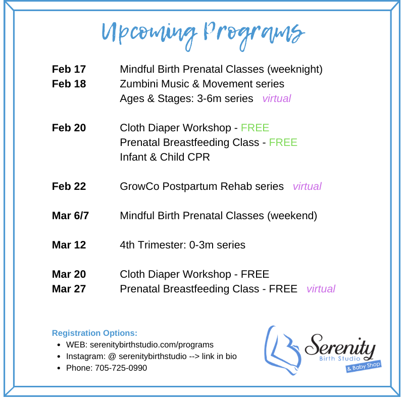 Prenatal Classes, Mom and Baby classes, parenting classes
