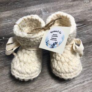 Handmade wool slippers for babies