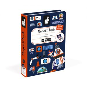 Janod magnetic books for educational play in space theme