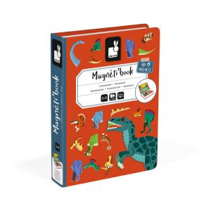 Janod magnetic books for educational play in dinosaur theme