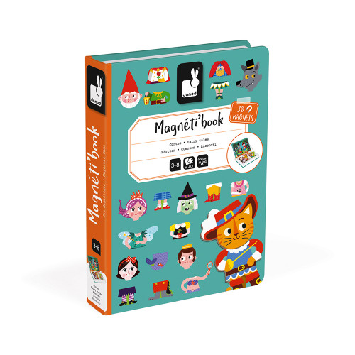 Janod magnetic books for educational play in fairy tales theme
