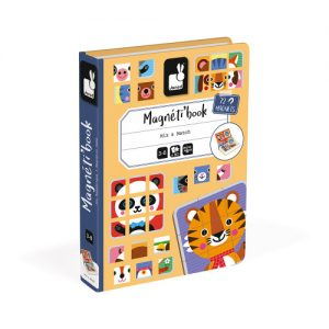 Janod magnetic books for educational play in mix and match theme