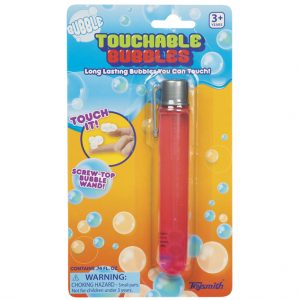 Toysmith touchable bubbles red