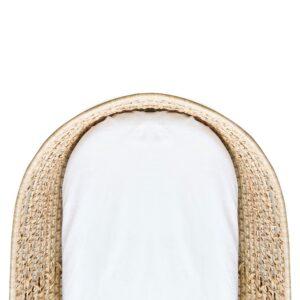 Kushies Multi-fit bassinet sheet white 1