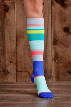 Lunatik Athletiks compression sock - urbane stripe