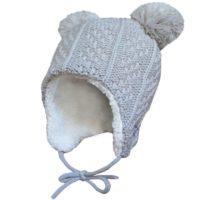 Jan and Jul winter knit bear hat - grey bear 2